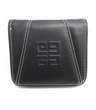 ジバンシィ GIVENCHY 財布 二つ折り レザー 黒 ブラック /EK