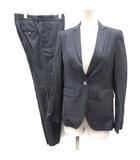 トゥモローランドコレクション TOMORROWLAND collection 36 17SS スーツ セットアップ 上下 ジャケット パンツ ストライプ 紺 ネイビー /EK