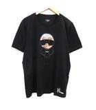 フェンディ FENDI カールラガーフェルド Karl Loves Fendi Tシャツ カットソー 半袖 52 黒 ブラック /KH