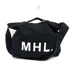 マーガレットハウエル MHL. ハンドバッグ トート ショルダー 2WAY ロゴ キャンバス 黒 ブラック /KH