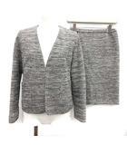シップス SHIPS スーツ セットアップ 上下 ジャケット スカート ツイード 38 白 黒 ブラック ホワイト /KH