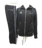 ドレスキャンプ DRESSCAMP チャンピオン M L セットアップ 上下 ジャージ ジャケット パンツ 黒 ブラック /EK