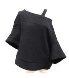 マルニ MARNI 42 カットソー 変形 ウール 半袖 黒 ブラック /EK