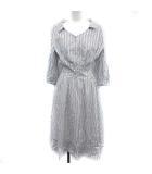 ジャスグリッティー JUSGLITTY 19SS シャツ ワンピース ロング ストライプ 七分袖 1 白 紺 /YM
