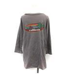 ドゥーズィエムクラス DEUXIEME CLASSE 19SS Tシャツ カットソー ラグラン バッグプリント california 長袖 チャコールグレー /TK