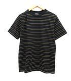 アーペーセー A.P.C. M Tシャツ カットソー ボーダー 半袖 黒 ブラック /EK