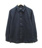 アーペーセー A.P.C. S シャツ チェック 長袖 紺 ネイビー /EK