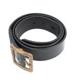 ビズビム VISVIM ベルト レザー 34 黒 ブラック /KH
