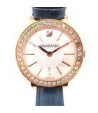 スワロフスキー SWAROVSKI 腕時計 クォーツ アナログ デイト 革ベルト ネイビー ゴールドカラー 1094362  /☆G
