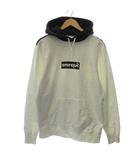 シュプリーム SUPREME コムデギャルソンシャツ 14SS パーカー スウェット Box Logo Pullover Hoodie プルオーバー 長袖 プリント M 白 黒 /KH