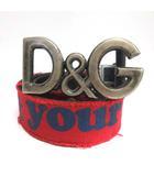 ディー&ジー ドルガバ ドルチェ&ガッバーナ D&G ベルト ロゴ Make it your own way 90 シルバー 黒 ブラック 赤 レッド /TK