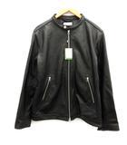 フリークスストア FREAKS STORE XL ライダースジャケット シングル ジップアップ ゴートレザー 黒 ブラック /EK