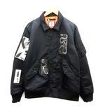 サノバチーズ SON OF THE CHEESE L 18AW フライトジャケット MA-1 ジップアップ  黒 ブラック /EK