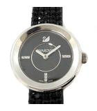 スワロフスキー SWAROVSKI 腕時計 ピアッツァ ミニ ジェット&ステンレス Piazza Mini Jet and Stainless Steel Watch クォーツ アナログ 2針 黒 ブラック 1183491 /YM ●D