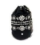 ヌキテパ NE QUITTEZ PAS! カヴィタバルティア KAVITA BHARTIA 巾着 ショルダーバッグ 巾着 刺繍 黒 ブラック 白 ホワイト /TK