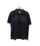 コムデギャルソンオムドゥ COMME des GARCONS HOMME DEUX NIKE ポロシャツ 半袖 プリントロゴ コットン L 黒 ブラック /MF21