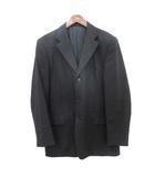 シーケーカルバンクライン ck Calvin Klein ヴィンテージ テーラード ジャケット 肩パッド 40  黒 ブラック  /☆G