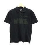 コムデギャルソンオムドゥ COMME des GARCONS HOMME DEUX ナイキ NIKE ポロシャツ 半袖 ロゴ コットン S 黒 ブラック /KH