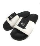 ワイスリー Y-3 ヨウジヤマモト adidas 26.5cm Adilette シャワーサンダル フラット 黒 ブラック 白 ホワイト /EK ●D