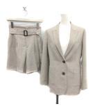 ラブレス LOVELESS スーツ セットアップ 上下 ジャケット キュロット パンツ ショート 34 S グレージュ /YM