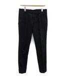 グッチ GUCCI パンツ ストレート スリム 刺繍 コットン 44 XS 黒 ブラック /KH