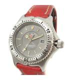 タグホイヤー TAG HEUER 腕時計 クオーツ セルシリーズ プロフェッショナル レザーベルト 赤 レッド シルバー色 WI1311 /KH