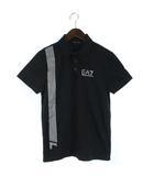 EA7 Tシャツ カットソー ロゴ 半袖 M 黒 ブラック /SR