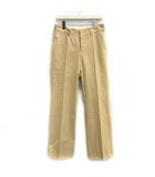 グッチ GUCCI 44 XS パンツ スラックス ヴィンテージ ブーツカット フレア センタープレス ベージュ /TK