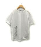 アベイシングエイプ A BATHING APE AAPE カットソー Tシャツ プリント リフレクターロゴ ストレッチ 半袖 XL 白 ホワイト /YO2