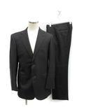 スーツ セットアップ 上下 テーラードジャケット シングル 総裏地 サイドベンツ パンツ スラックス ウール 94A6 M チャコールグレー /KT