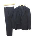 シングルスーツ セットアップ 上下 テーラード ジャケット 2B パンツ センターベント 50 L 紺 ネイビー /YM