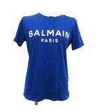 20SS Tシャツ カットソー 半袖 ロゴ 肩ボタン XS 青 ブルー /KH