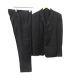 DAVID LINE 54 XL スーツ セットアップ 上下 ジャケット テーラード パンツ スラックス 黒 /EK