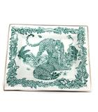 エルメス HERMES プレート 皿 陶器 ジャングルラブ Jungle Love 緑 白 グリーン ホワイト /KH ■OH
