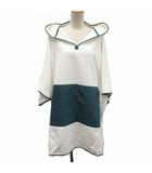 エルメス HERMES Petit h バスローブ パジャマ ルームウェア パーカー プルオーバー 長袖 オーバーサイズ 白 緑 /KH