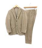 スーツ セットアップ 上下 ジャケット パンツ サイドベンツ コーデュロイ 46 S ベージュ /KH