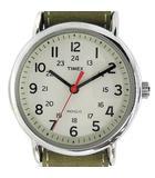 腕時計 WEEKENDER CENTRAL PARK ウィークエンダー セントラルパーク フルサイズ クオーツ レザー 3針 カーキ 緑 T2N651 /SR
