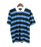 ポロシャツ ボーダー 半袖 ラガーシャツ パイル生地 50 緑 青  /☆G