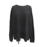 エンフォルド ENFOLD 38 M セーター ニット ウール 長袖 オーバーサイズ 黒 ブラック /EK