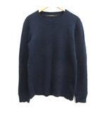 3 L セーター ニット ダメージ加工 長袖 紺 ネイビー /EK