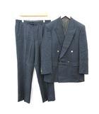 ランバン LANVIN CLASSIQUE スーツ セットアップ 上下 テーラードジャケット パンツ ダブル ヴィンテージ 50 XL 紺 ネイビー /KH