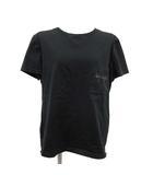 エルメス HERMES Tシャツ カットソー 半袖 ホースビット 刺繍 42 2XL 黒 ブラック /KH