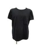 エルメス HERMES Tシャツ カットソー 半袖 シェーヌダンクル 刺繍 42 2XL 黒 ブラック /KH
