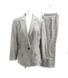 ランバン LANVIN コレクション COLLECTION セットアップ 上下 スーツ テーラードジャケット テーパードパンツ 総柄 40 L グレー /PJ