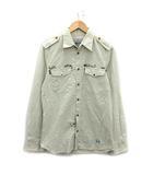 ヴィヴィアンウエストウッドマン Vivienne Westwood MAN 12AW シャツ 長袖 スタッズ オーブ 刺繍 2 M アイボリー /KH