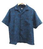 ザノースフェイス THE NORTH FACE M クライミングサマーシャツ CLIMBING SUMMER SHIRT アロハシャツ 総柄 半袖 紺 ネイビー NR21931 /EK