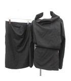 ヴィヴィアンウエストウッド Vivienne Westwood スーツ セットアップ 上下 変形 ジャケット スカート ひざ丈 UK10 M 黒 ブラック /YM