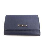 フルラ FURLA キーケース 6連 レザー 紺 ネイビー /EK ●D ■OH