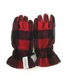 ディセンダント DESCENDANT ロンハーマン 手袋 TIMBER JACK FLEECE GLOVE チェック フリース 赤 レッド 黒 ブラック /TK