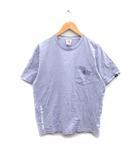 アベイシングエイプ A BATHING APE Aape ONE POINT POCKET TEE Tシャツ カットソー 半袖 猿ロゴ コットン XL 紫 パープル /MF12